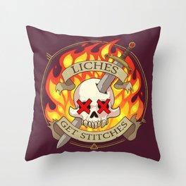 Liches Get Stitches Throw Pillow