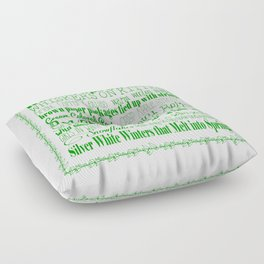 A Few of My Favorite Things - Green Floor Pillow