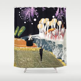 Teleport Shower Curtain