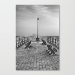 Swanage Jetty in Mono Canvas Print