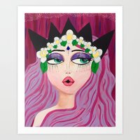 karen hallion Art Prints featuring Karen by ThePinkElefant
