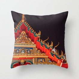 Thai temple / wat Throw Pillow