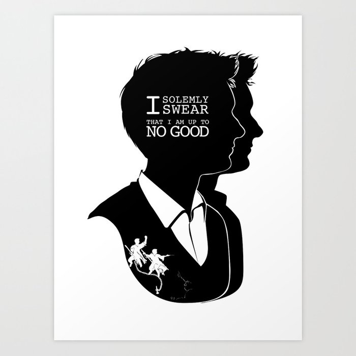 Fred Amp George Quote Silhouette Art Print By Gtrichardson