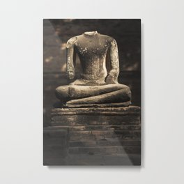 Beheaded Bhudda Metal Print