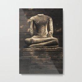 Beheaded Bhudda Metal Print