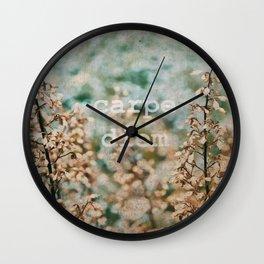 Carpe Diem: Seize the Day Wall Clock