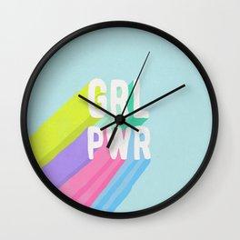 GRL PWR x Blue Wall Clock