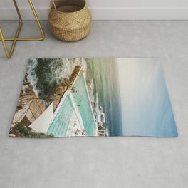 Bondi Icebergs Club | Bondi Beach Sydney Australia Ocean Coastal Travel Photography Rug