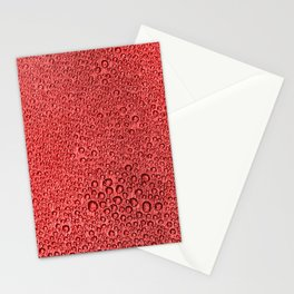 Water Condensation 05 Red Stationery Cards