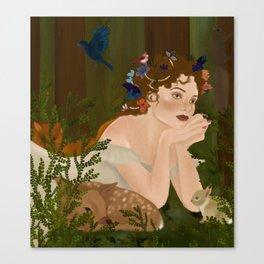 Mielikki, Finnish goddess of the forest Canvas Print