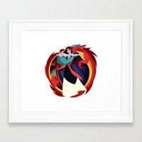 mulan Framed Art Prints featuring Mulan by Karrashi