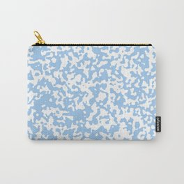Small Spots - White and Baby Blue Carry-All Pouch