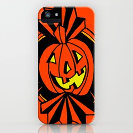 Grinning Jack o' lantern iPhone Case