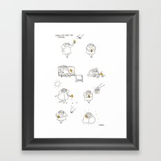 when life gives you lemon Framed Art Print