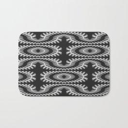 Monochrome centipede arabesque Bath Mat