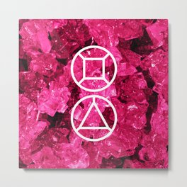 Garnet Candy Gem Metal Print