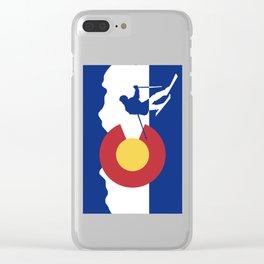 Colorado Skier Clear iPhone Case