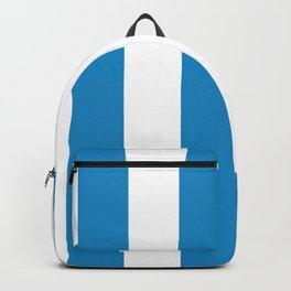 Large Blue and White Stripes | Vertical Backpack