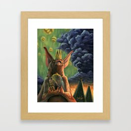 The Caged Bird and The Bat Framed Art Print