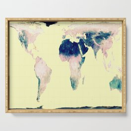 World Map : Gall Peters Pastel Serving Tray