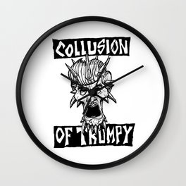 COLLUSION OF TRUMPY Wall Clock