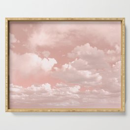 Clouds in a Peach Sky Serving Tray