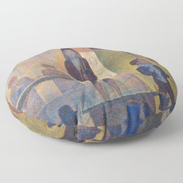 Georges Pierre Seurat Circus Sideshow Floor Pillow