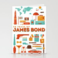 james bond Stationery Cards featuring James Bond 50 Years  by RLCNTRS
