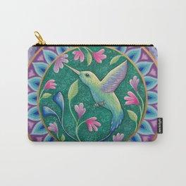 Hummingbird Mandala Carry-All Pouch