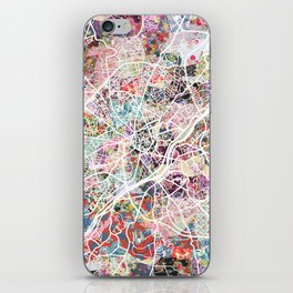 Limoges map iPhone Skin