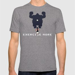 Exercise more. A PSA for stressed creatives. T-shirt