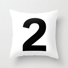 Number 2 (Black & White) Throw Pillow