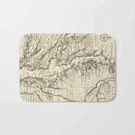 Vintage Map of The Chesapeake Bay (1752) Bath Mat