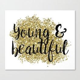 Young & beautiful - golden jazz Canvas Print