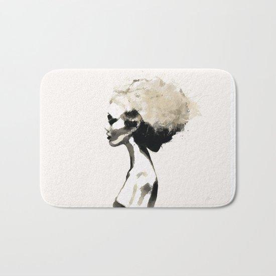 Serene - Digital fashion illustration / painting Bath Mat