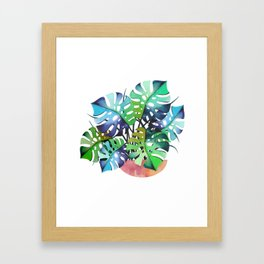 Watercolor Monstera Or One Fine Swiss Cheese Plant Framed Art Print