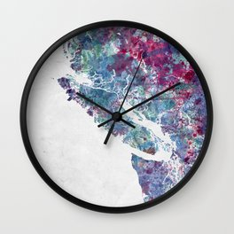 Vancouver Island map Wall Clock