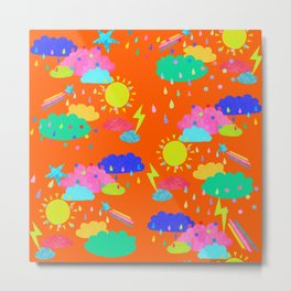 Bright Rainbow Clouds Metal Print