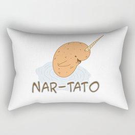 NAR-TATO- Narwhal Meets Potato Rectangular Pillow