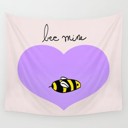 Bee Mine, Oh My Cliche Valentine Wall Tapestry
