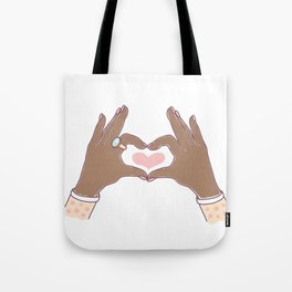 Hands Heart Shape Tote Bag