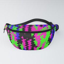 Cyber Punk Neon Digital Glitch - Visual Design Fanny Pack