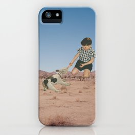 Push and Pull iPhone Case