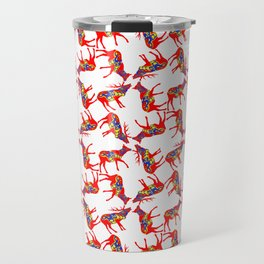 Graphic Swedish Dala Elk Pair Multiples Travel Mug