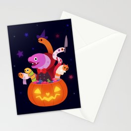 Spooky eels Stationery Cards