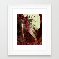 demon Framed Art Prints featuring demon by anobviousaside