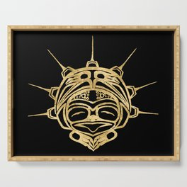 Gold Frog Ink Serving Tray