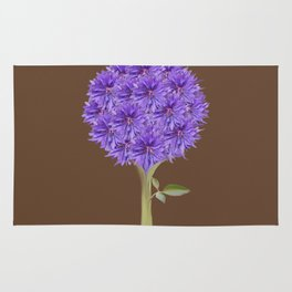 Flowerpower - Purple Flower Ball - Society6# #buyart Rug