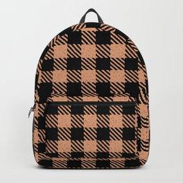 Light Salmon  Bison Plaid Backpack