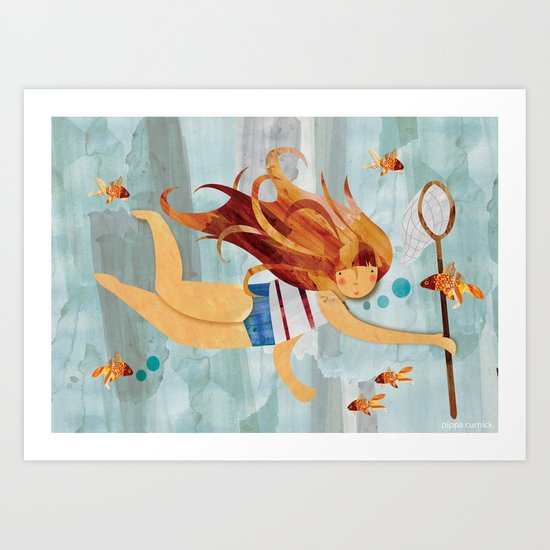 Into the Fishpond Art Print